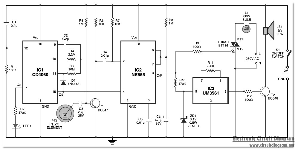 Subham's Electronics Circuits World: Security system based