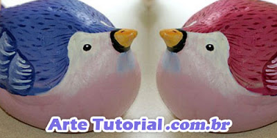 Método de como fazer ave / pássaro de gesso simples e fácil