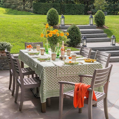 Outdoor Dining Room Furniture Ideas with Fresh Atmosphere