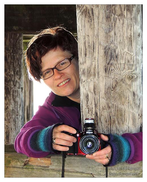 Gøy på fotoshoot med Linda :-)