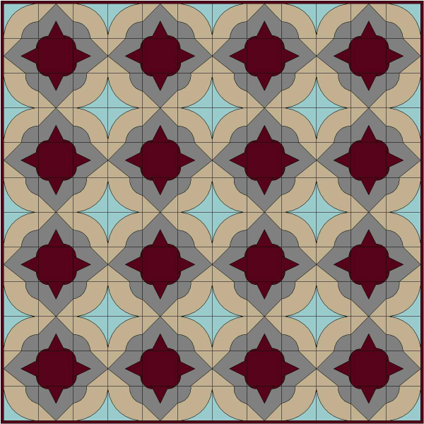Window Tiles Quilt Design | DevotedQuilter.blogspot.com