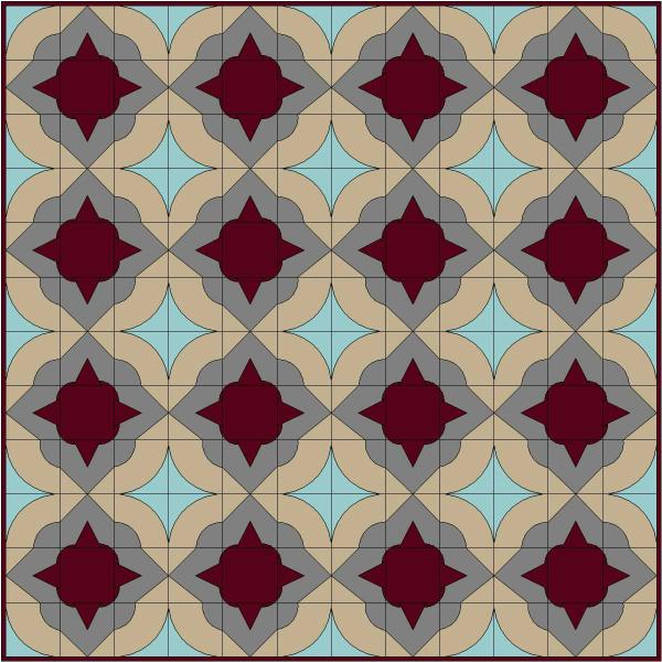 Window Tiles Quilt Design | DevotedQuilter.blogspot.com