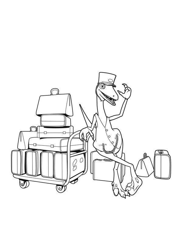 los peques del cra dibujos de dinotren para colorear