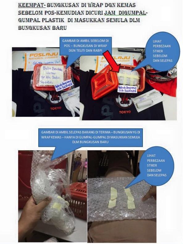 Staff Pos Malaysia Curi Jam GShock