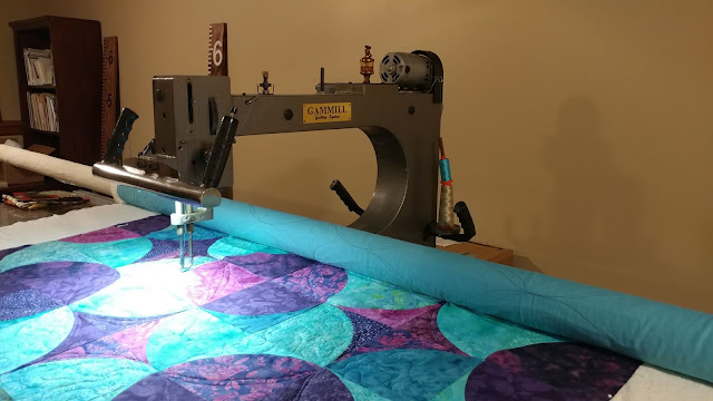 Quilting on my Gammill longarm with Aurifil 50wt thread