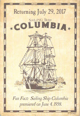 Sailing Ship Columbia Return Disneyland Trading Card