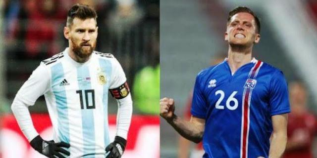 Pertandingan Argentina vs Islandia Berakhir Imbang, Piala Dunia 2018