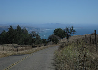 View of the Pacific Coast looking down Meyers Grade, Sonoma County, California