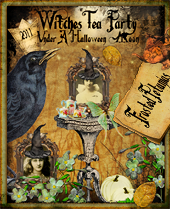 WITCHES TEA PARTY UNDER A HALLOWEEN MOON Blog Party 2011