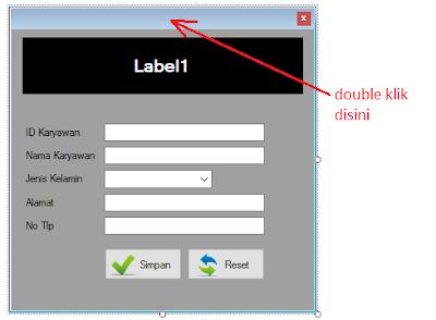6 - Part5 membuat Aplikasi Hotel Dengan Vb.Net + Database Mysql – Form Input Karyawan