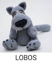 PATRONES LOBOS AMIGURUMI