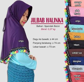 Jilbab bergo tassel kerut belakang - halinka