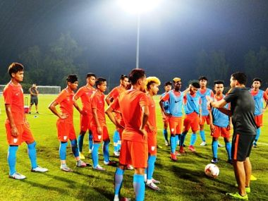 India U-17 football team during a training session