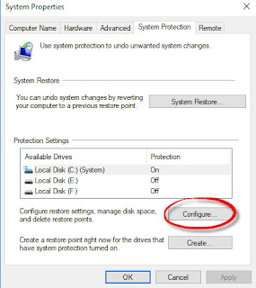 Sytem Restore pada Windows