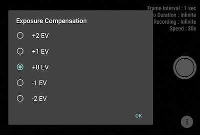 Set exposure compensation