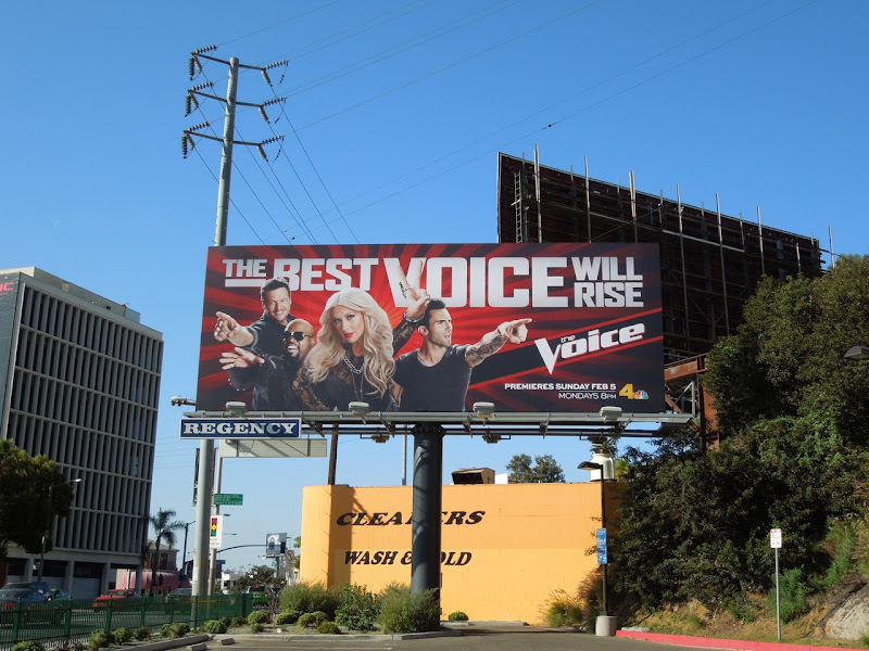 The Voice season 2 TV billboard