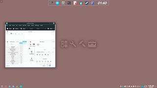 KDE Plasma Flat Activities Wallpaper 7 Work