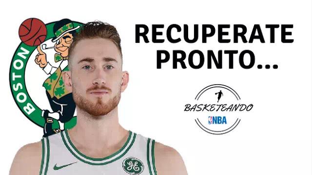 Gordon Hayward se lesiona en su partido debut con Celtics