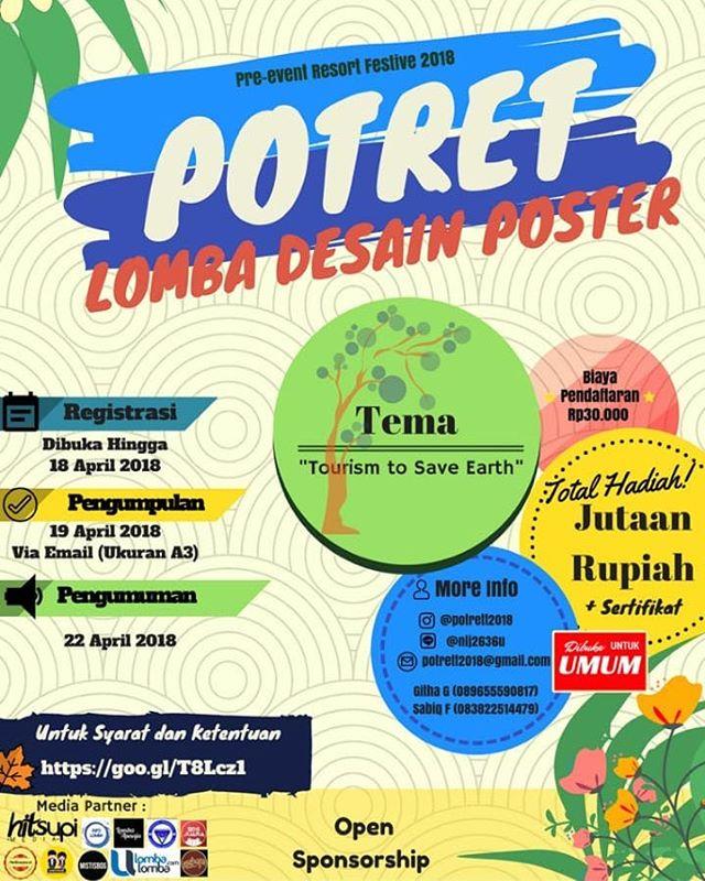 Lomba Desain Poster POTRET 2018 Resort Festive