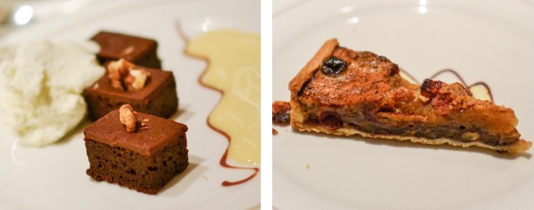 Cunard Queen Elizabeth, Britannia Restaurant, Desserts