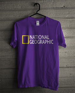 Baju Kaos National Geographic Warna Ungu