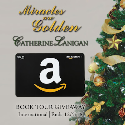Miracles are Golden giveaway graphic (Amazon gift card)