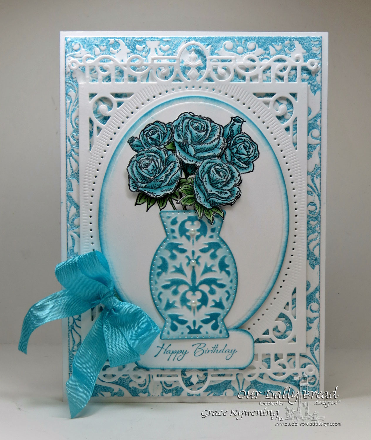 Stamps - Our Daily Bread Designs Rose Bouquet, Iris, ODBD Custom Decorative Vase Die