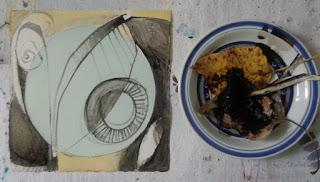 ink cap mushroom drawing