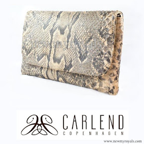 Crown Princess Mary Carlend Copenhagen Vanessa Original Python Clutch