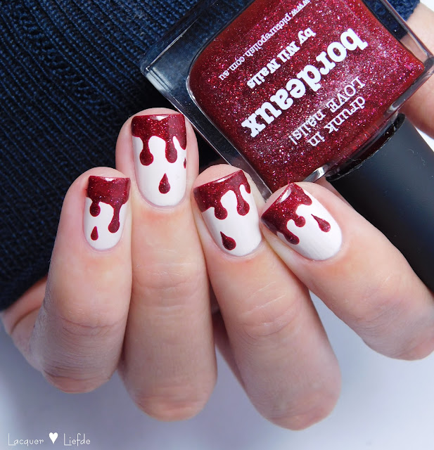 Blood Drip Nail Art Halloween Nail Art