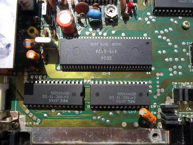 VDP 315-5124 na placa do Master System TecToy