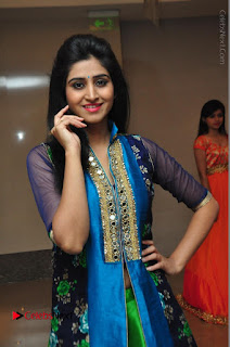 Actress Model Shamili Sounderajan Pos in Desginer Long Dress at Khwaaish Designer Exhibition Curtain Raiser  0005.JPG