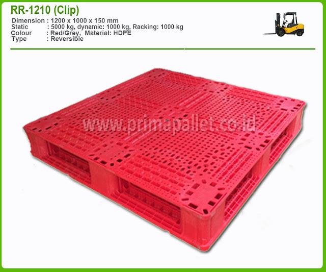 Jual Pallet Plastik RR 1210 (Clip) HDPE