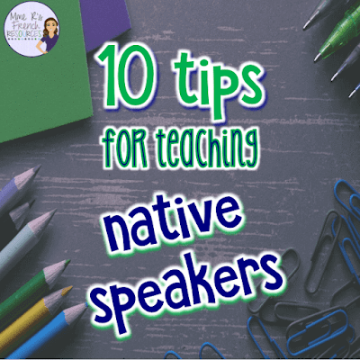 How to teach native speakers in your foreign language class