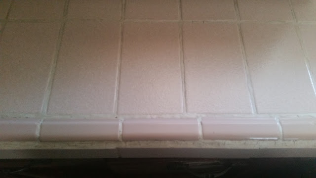 A bright clean tiles in pinkish color