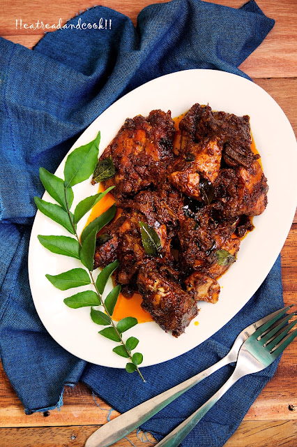 how to make Chicken Pepper Fry recipe and preparation with step by step pictures