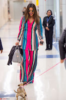 Priyanka Chopra in Colorful Jumpsuit arriving at JFK Airport New York 18 June 2017 ~  Exclusive 031.jpg