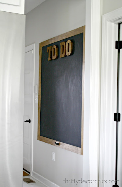 Adding a large chalkboard to a wall