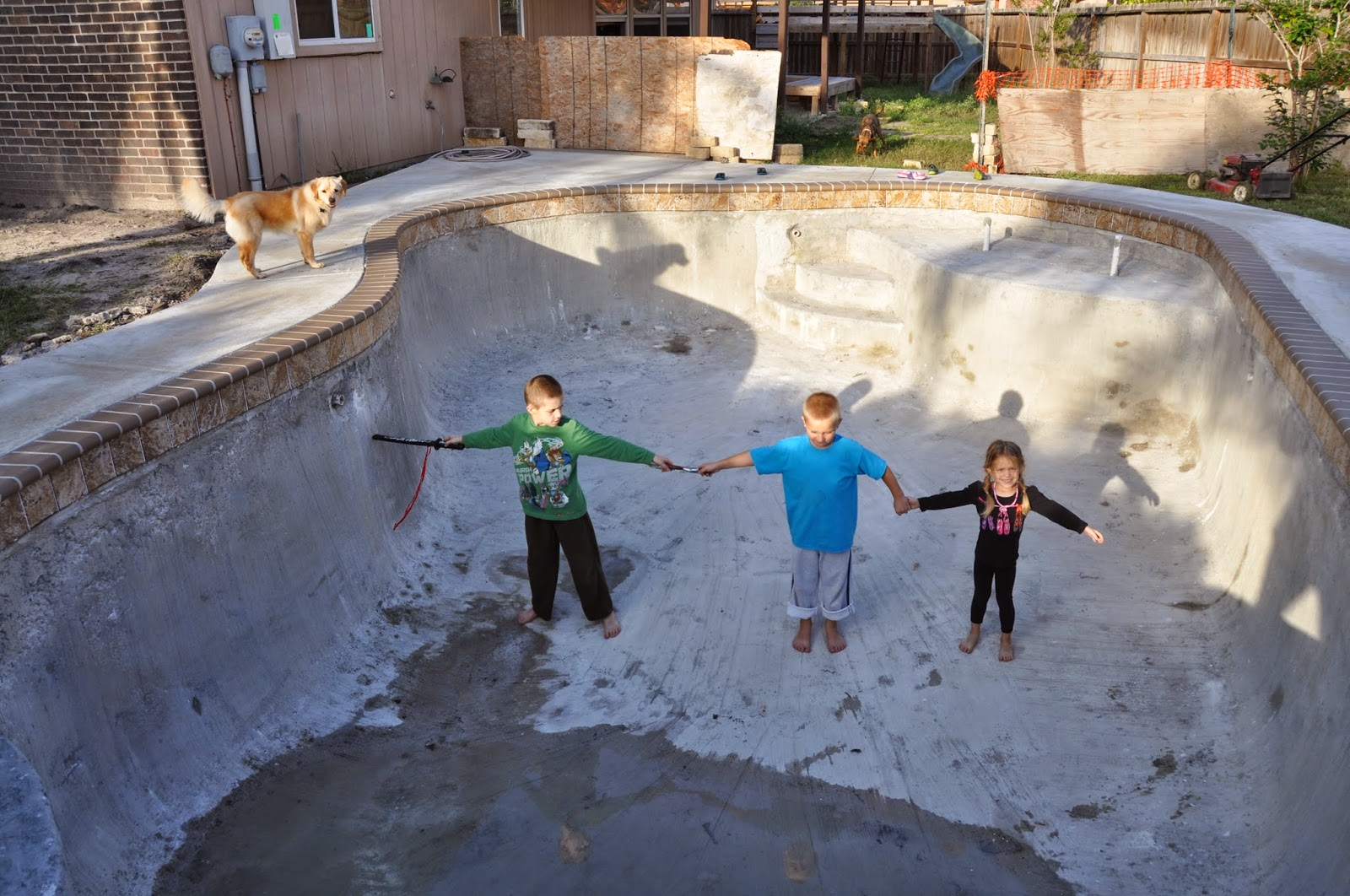 About a week ago, we started letting the kids play inside the pool. Why  not? It wasn't able to serve in any other capacity. However, it made an  awesome ...