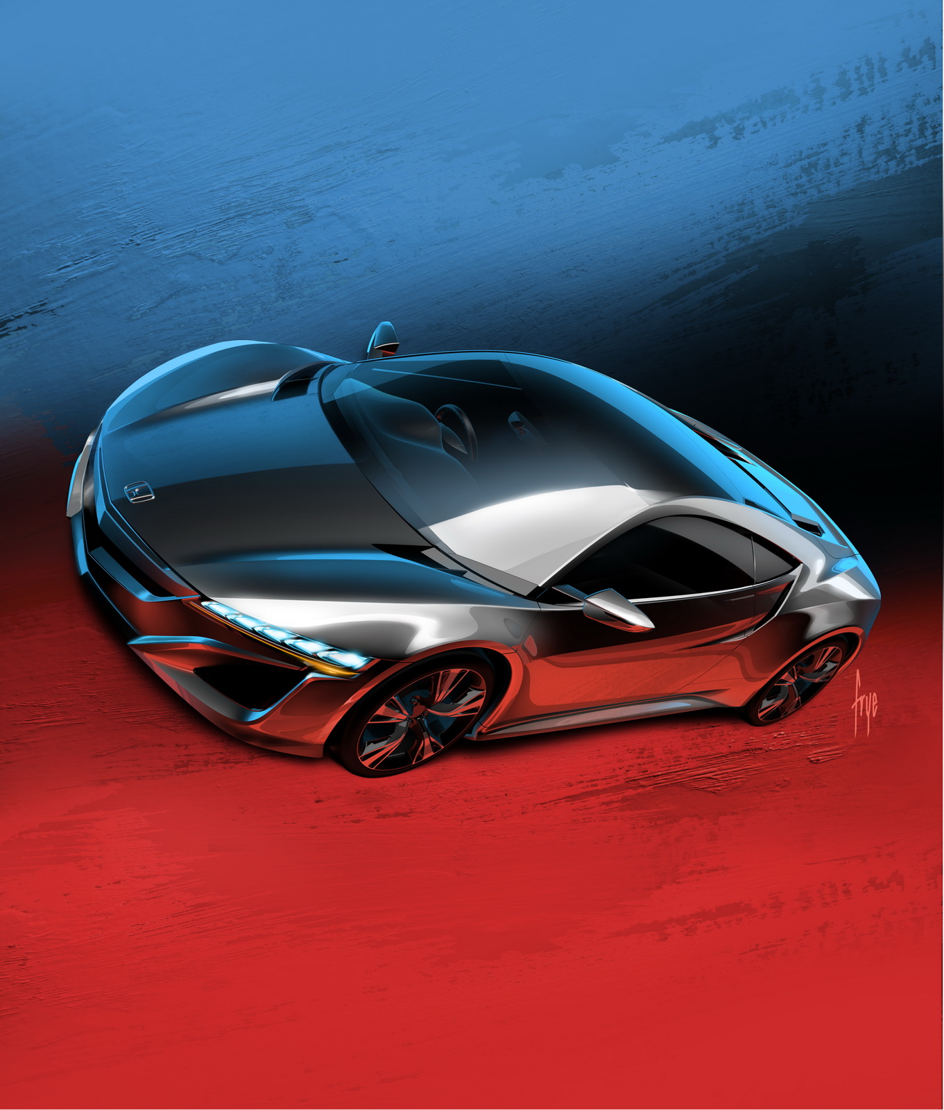 Honda NSX Concept And European CR-V Prototype Take Centre