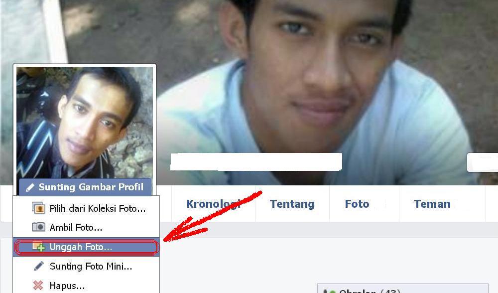 mengganti foto profil facebook cepat dan mudah