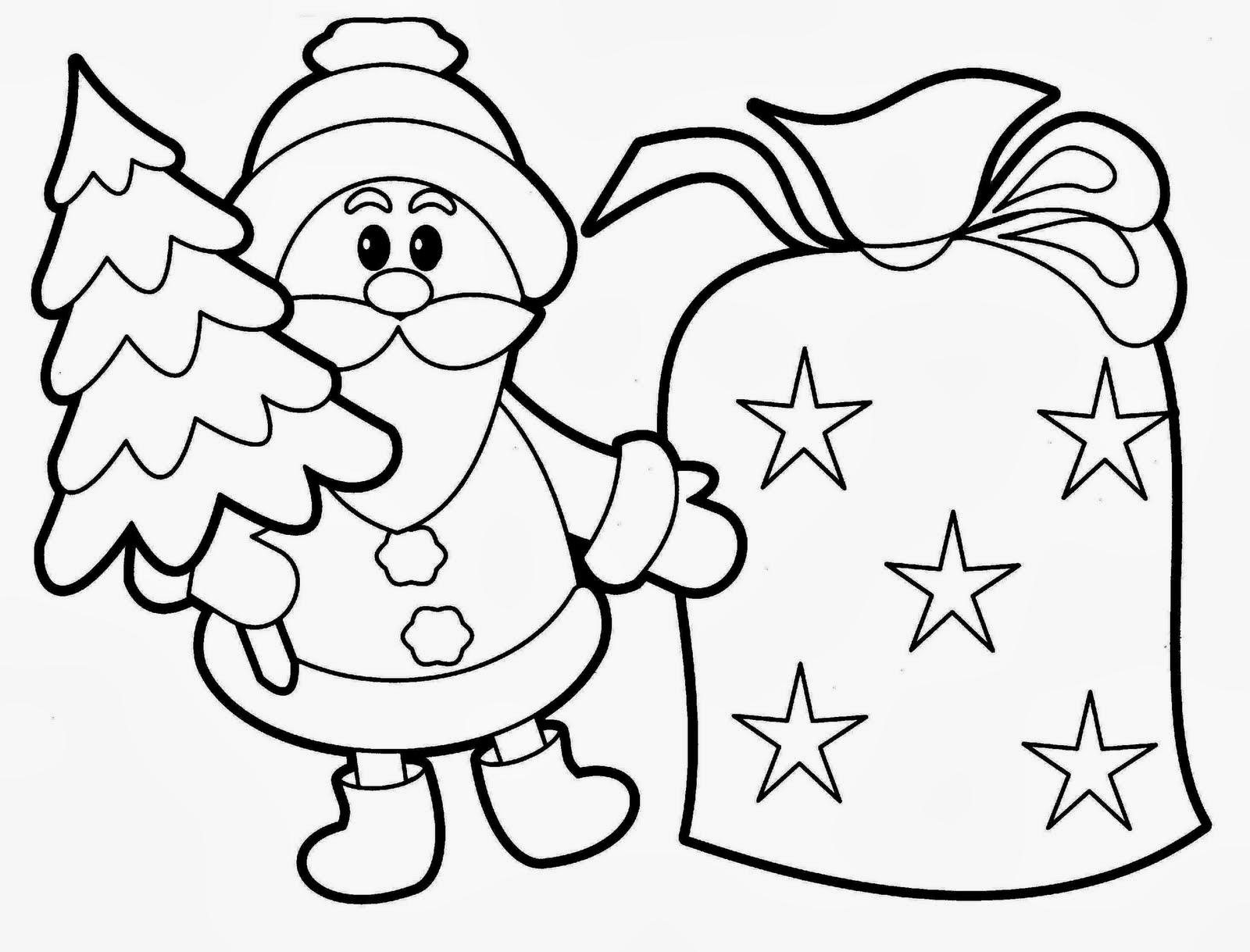25 Desenhos De Papai Noel Para Colorir