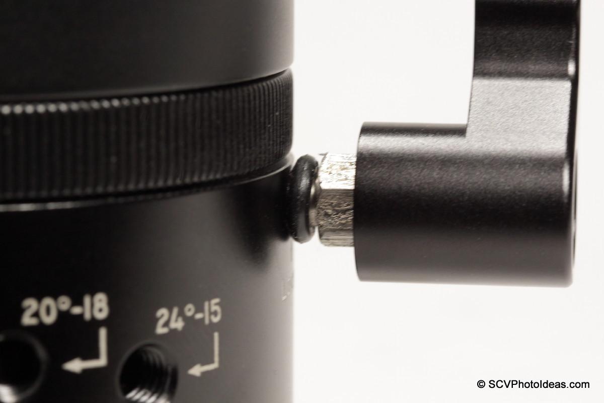 Sunwayfoto DDP-64MX top platform Lever Lock-knob pulled