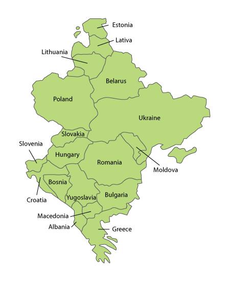 östra europa karta Karta över Europa Politiska Regionen östra europa karta