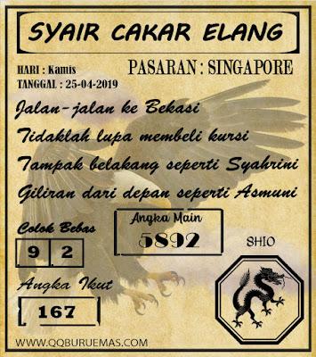 Syair SINGAPORE,25-04-2019