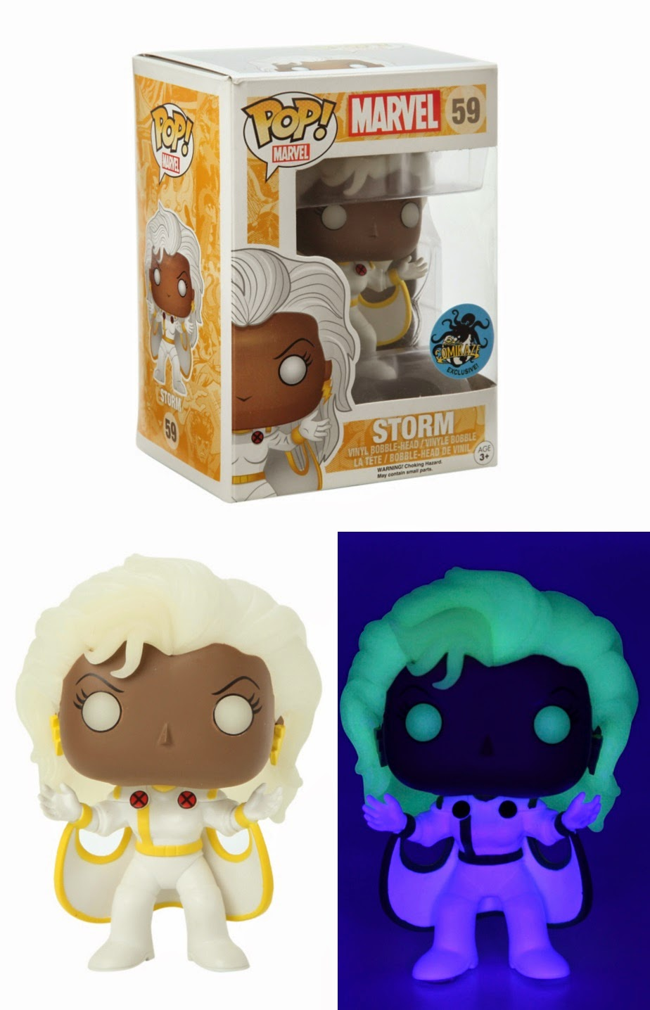Hot Topic Exclusive '90s X-Men Glow in the Dark Storm Pop! Marvel Vinyl Figure by Funko
