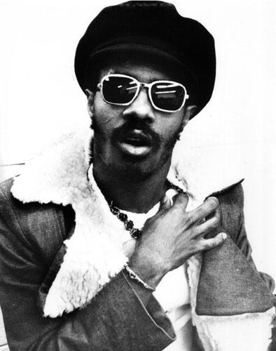 Foto de Stevie Wonder con lentes