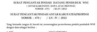 Surat Keterangan Pindah Domisili Pemerintah Desa Karangpatihan