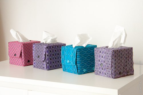 boites à mouchoirs shweshwe