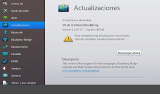 Si usted tiene instalado en su PlayBook BlackBerry beta la versión 2.0 del firmware de la tableta de RIM, usted debe ir a ver una actualización. De hecho, RIM ha lanzado la versión beta 2.0.0.7111 y está actualmente disponible para su descarga. La lista de cambios no menciona nada nuevo, pero si quieres probar esta versión para desarrolladores, se recomienda la actualización. Tenga en cuenta que si decide actualizar a esta versión hay que tener en cuenta que esta es una versión beta para desarrolladores y pueden contener errores. En el resto de este artículo las instrucciones para descargar e